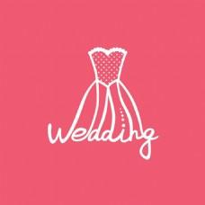 婚礼礼服标志模板下载