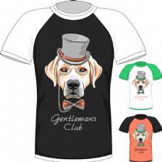 时尚小狗T恤印花图案图片