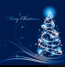 抽象圣诞树矢量图