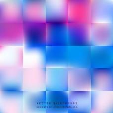 蓝紫色几何正方形背景