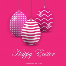 复活节彩蛋粉红色背景