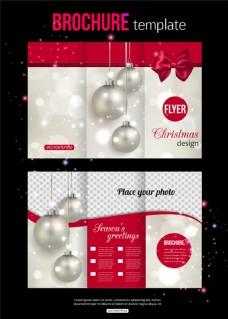 圣诞三折页模板图片