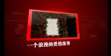 红色婚庆相簿AE模板