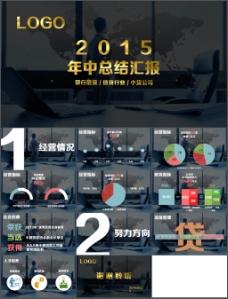 金融行业年中总结汇报PPT模板下载
