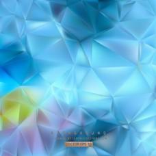 中文摘要蓝色多边形三角形图案背景