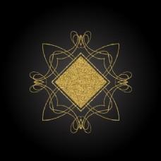 背景与黄金装饰元素