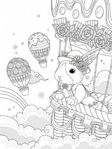 矢量手绘兔子插画图片矢量