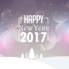 新年雪花虚化背景