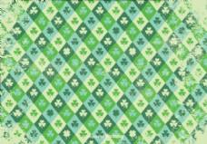 垃圾风格的三叶草矢量模式