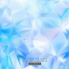 浅蓝色多边形三角图案背景