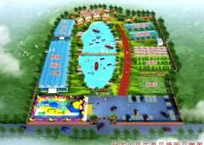 卧龙山庄生态园鸟瞰图