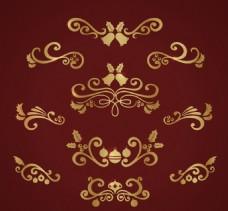 优雅金色装饰花纹