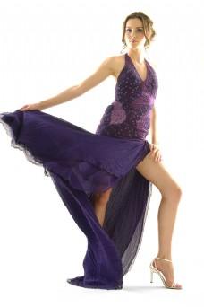长裙模特图片