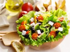 美味的蔬菜沙拉图片