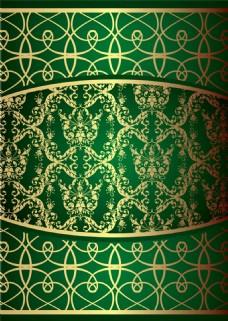 绿色植物花纹时尚背景图片