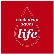 每一滴水救生命红色背景