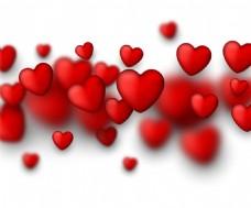 浪漫的红心设计矢量素材