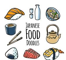 创意日本料理矢量素材