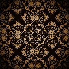 金色菱形花纹图案图片