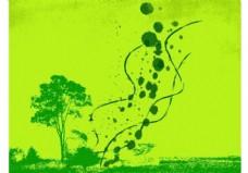 绿色的春天的背景