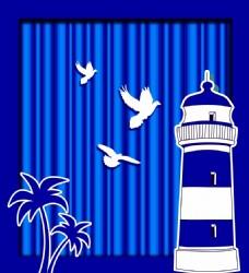 蓝色海洋婚礼侧背景