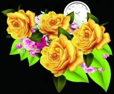 异形黄色花朵设计背景图片高清psd下载