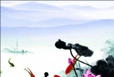 彩色水墨画册背景-04