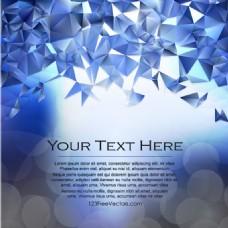 深蓝色多边形三角背景