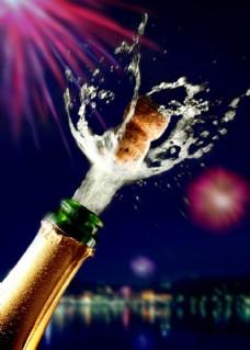 动感飞溅啤酒香槟图片