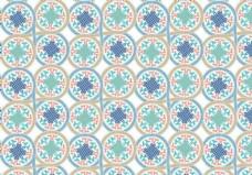 圆的摩洛哥花纹背景矢量
