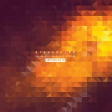 黑橙蓝色三角背景