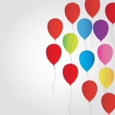自由气球矢量背景图图标