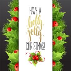 精美圣诞节艺术字贺卡设计矢量图