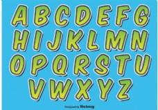 漫画风格的字母