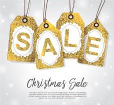 金色圣诞节热卖标签图片