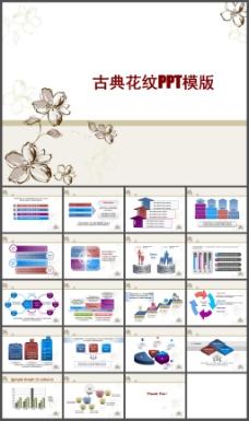 古典花纹中国风PPT模板