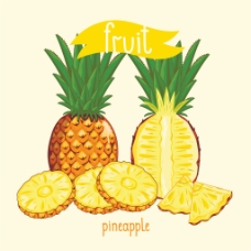 菠萝水果字符设计图片