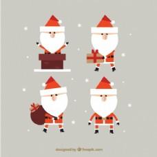 几何风格的圣诞老人克劳斯