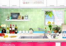 精致厨房用品素材