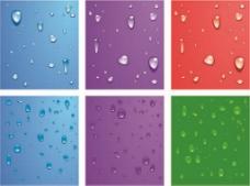 露水水滴背景图