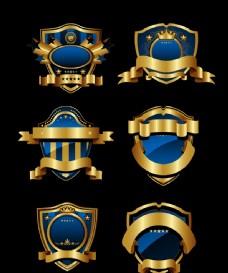 蓝色欧式标签