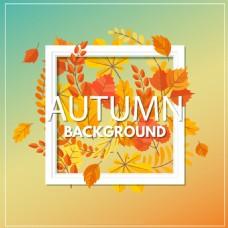 秋季渐变色海报