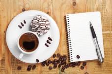 咖啡笔记事本图片