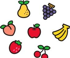 香蕉 葡萄 梨 桃子 樱桃