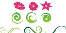花朵 绿色花纹