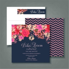 鲜花婚礼贺卡设计图片