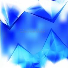钴蓝色多边形三角背景模板
