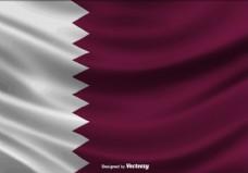 卡塔尔国旗矢量图