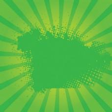绿色阳光旭日的背景矢量海报图
