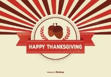 感恩节背景插图